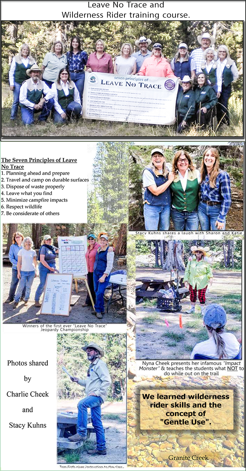 Leave No Trace Wilderness Rider Training 2019