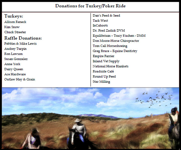 Redshank Riders Thanks the Sponsors for their Donations